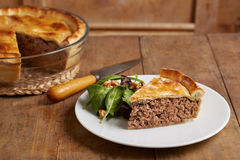 Traditional meat pie on a dish Royalty Free Stock Photos