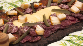 Traditional meat plate Royalty Free Stock Image