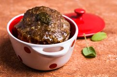 Traditional meatloaf with spices. And vegetables on the table. Selective focus Royalty Free Stock Photography
