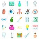 Traditional medicine icons set, cartoon style. Traditional medicine icons set. Cartoon set of 25 traditional medicine vector icons for web isolated on white Stock Photos