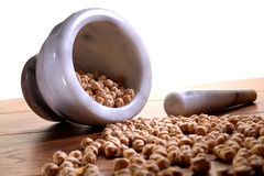 Traditional Medicine with Mortar and Pestle stock image