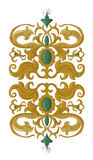 Traditional medieval decorative element on isolated white Royalty Free Stock Photo
