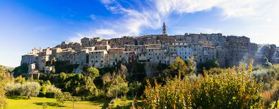 Traditional medieval hilltop villages of Italy- Grotte di Castro Royalty Free Stock Image