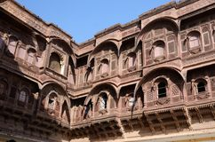 Traditional medieval house (haveli) in Jodhpur blue city,India Stock Images