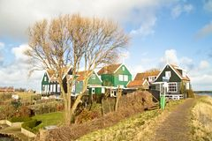 Traditional medieval houses in the Netherlands Royalty Free Stock Images