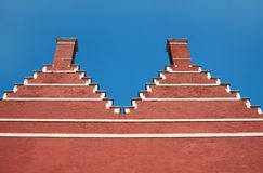 Traditional medieval merlons wall Royalty Free Stock Photography