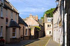 Traditional medieval village houses on a street Royalty Free Stock Image