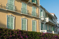 Traditional Mediteranean architecture in French Riviera Royalty Free Stock Image