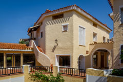 Traditional Mediterranean architecture house at Porto Cervo. Stock Images