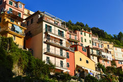 Traditional Mediterranean architecture of Manarola, Italy Stock Photo