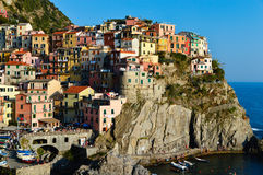 Traditional Mediterranean architecture of Manarola, Italy Royalty Free Stock Images