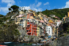 Traditional Mediterranean architecture of Riomaggiore, Italy Royalty Free Stock Photo