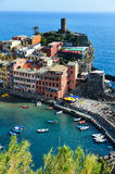 Traditional Mediterranean architecture of Vernazza, Italy Stock Image