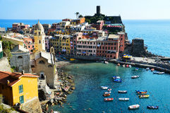 Traditional Mediterranean architecture of Vernazza, Italy Royalty Free Stock Photo