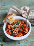 Traditional mediterranean dish with tomatoes Royalty Free Stock Image