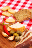 Traditional mediterranean food. Royalty Free Stock Photography