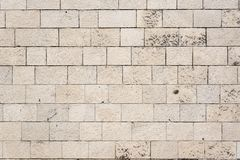 Traditional mediterranean grungy stone wall stock image