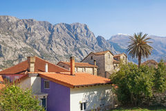 Traditional Mediterranean houses. Montenegro Royalty Free Stock Images