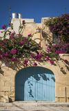 Traditional mediterranean maltese house exterior detail in gozo. Traditional mediterranean maltese village house exterior detail in gozo island malta Stock Photo