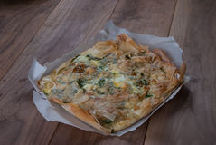 Traditional Mediterranean Pie, with spinach and cheese Royalty Free Stock Photos