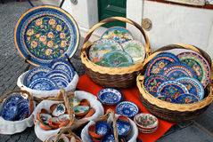 Traditional mediterranean pottery Royalty Free Stock Photo