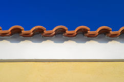 Traditional Mediterranean roof line Stock Photo