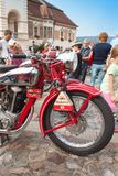 Traditional meeting of fans of vintage cars and motorbikes Royalty Free Stock Image