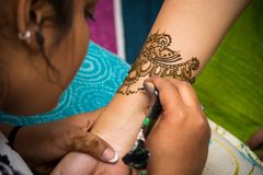 Traditional mehendi henna decoration royalty free stock photography