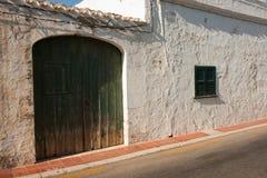 Traditional Menorca architecture Stock Photo