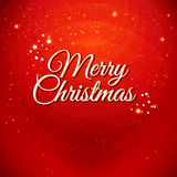Traditional Merry Christmas card. Typographic labe Stock Image