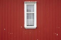 Traditional metallic islandic facade with window. Stock Images