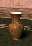 Traditional Metallic Vase on the Floor Royalty Free Stock Photo