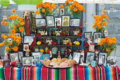 Traditional Mexican altar installation. royalty free stock image
