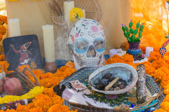 Traditional Mexican altar installation. stock image
