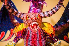 Traditional Mexican art alebrije folklore. Big sculpture Royalty Free Stock Image