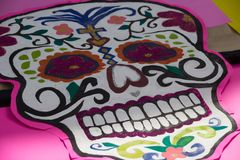 Traditional mexican catrina handcraft. Photograph of a traditional mexican catrina handcraft Stock Photo