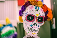Traditional mexican catrina handcraft. Photograph of a traditional mexican catrina handcraft Stock Images