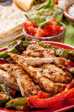 Traditional Mexican Chicken Fajita Ingredients Royalty Free Stock Photography