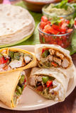 Traditional Mexican Chicken Fajita Stock Photography