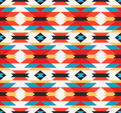 Traditional Mexican colorful fabric ornament. Vector seamless pattern Royalty Free Stock Photography