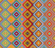 Traditional Mexican colorful ornamental fabric pattern Stock Photo