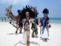 Traditional Mexican Dancers Stock Images