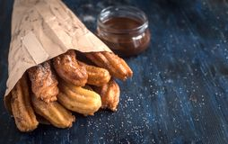 Traditional Mexican dessert churros Stock Photography
