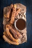 Traditional Mexican dessert churros Royalty Free Stock Photo