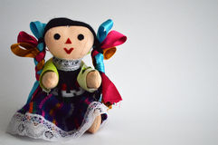 Traditional mexican ethnic hand made doll Royalty Free Stock Image
