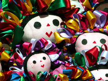 Traditional mexican ethnic hand made doll. S Stock Image