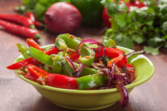 Traditional Mexican fajita peppers Royalty Free Stock Images