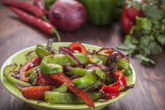 Traditional Mexican fajita peppers Stock Images