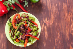 Traditional Mexican fajita peppers stock photo