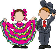 Traditional mexican folk dance illustration Royalty Free Stock Images